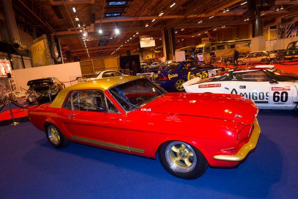 Autosport International Exhibition. National Exhibition Centre, Birmingham, UK. Thursday 8 January 2015. Ford Mustang on the Motorsport News stand. World Copyright: LAT Photographic. ref: Digital Image EL0G1866