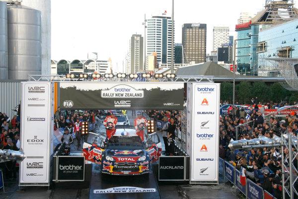 Round 7, Rally New Zealand, 21st-24th June 2012Sebastien Loeb, Citroen, podium