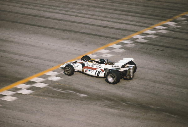 Monza, Italy. 3-5 September 1971. Peter Gethin (BRM P160) 1st position. Ref-71 ITA 02. Please Note: This image is available as a 30mb+ CMYK Tiff scan upon request. World Copyright - LAT Photographic