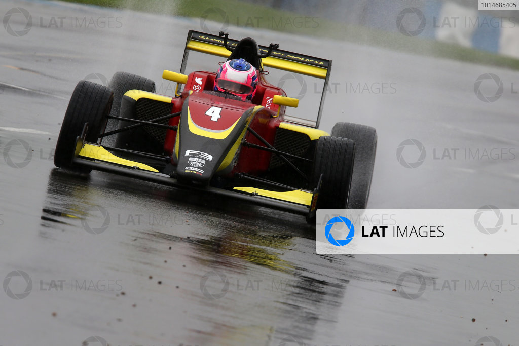 2016 BRDC F3 Championship, Donington Park, Leicestershire. 10th - 11th September 2016. Omar Ismail (GBR) Chris Dittmann Racing BRDC F3.  World Copyright: Ebrey / LAT Photographic.