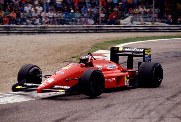 1987 Italian Grand Prix.Monza, Italy.4-6 September 1987.Gerhard Berger (Ferrari F187) 4th position.Ref-87 ITA 27.World Copyright - LAT Photographic