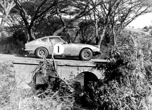 1973 World Rally ChampionshipSafari Rally, 19th - 23rd April.Shekhar Mehta (EAK) on his way to victory in the Datsun 240Z. Action.World Copyright: LAT Photographic.ref: 5253/6A-7 (60mb Scan)