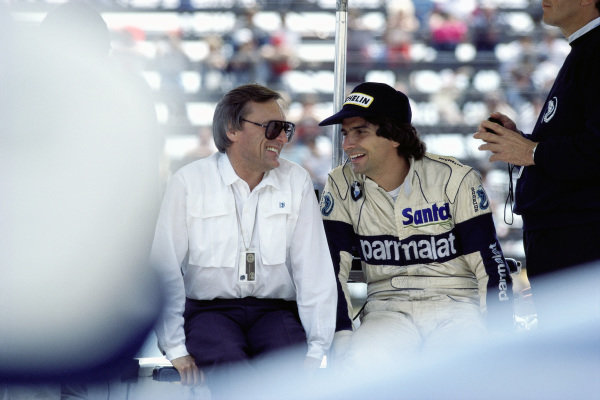 Bernie Ecclestone and Nelson Piquet.