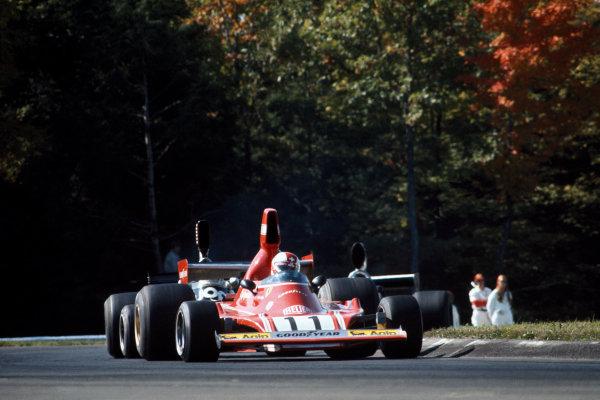 Watkins Glen, New York, USA. 4 - 6 October 1974.Clay Regazzoni (Ferrari 312B3), 11th position, action. World Copyright: LAT Photographic.Ref:  74USA08.