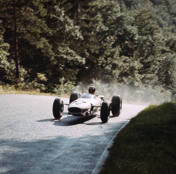 Nurburgring, Germany. 5-7 August 1966.Bob Bondurant (BRM P261). Ref-3/2326.World Copyright - LAT Photographic