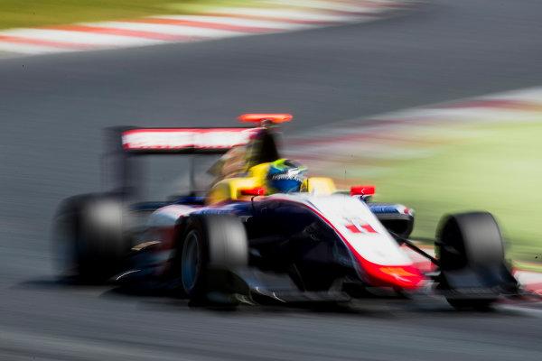 2016 GP3 Series Test 2. Circuit de Catalunya, Barcelona, Spain. Thursday 20 April 2017. Ryan Tveter (USA, Trident)  Photo: Zak Mauger/GP3 Series Media Service. ref: Digital Image _56I5542