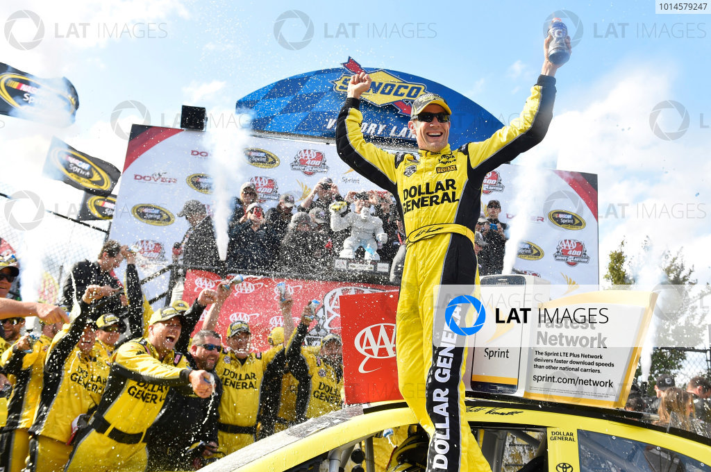 13-15 May, 2016, Dover, Delaware USA Matt Kenseth, Dollar General Toyota Camry celebrates his win in Victory Lane ? 2016, Nigel Kinrade LAT Photo USA
