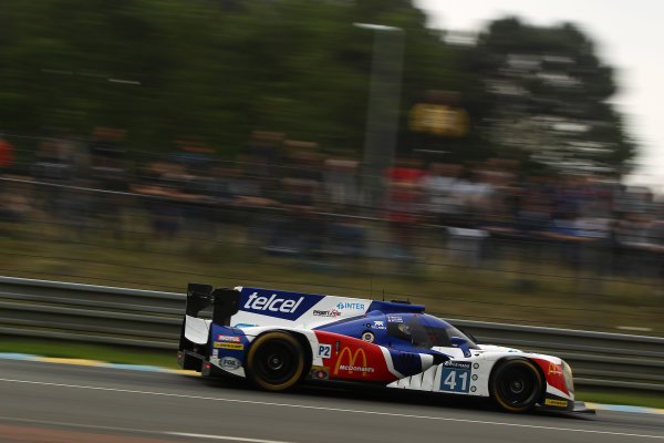 2016 Le Mans 24 Hours Test day, Le Mans, France. 5th June 2016. Memo Rojas / Julien Canal / Jakub Giermaziak Greaves Motorsport Ligier JS P2 Nissan . World Copyright: Ebrey / LAT Photographic.
