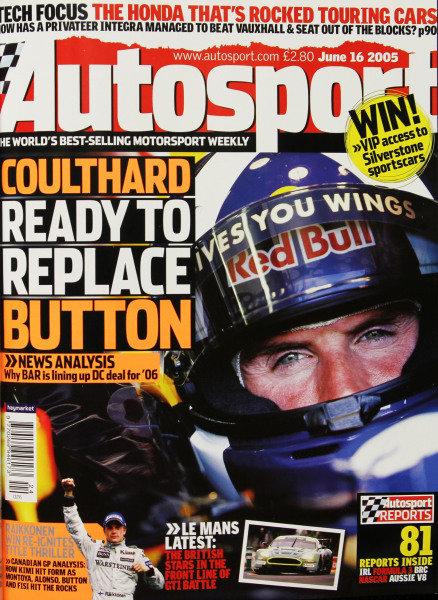 Cover of Autosport magazine, 16th June 2005