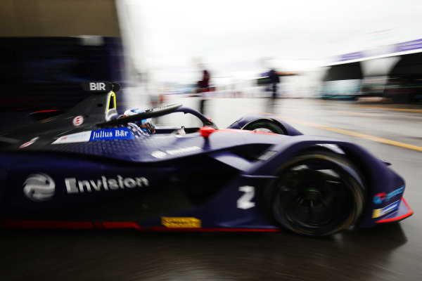 Sam Bird (GBR), Envision Virgin Racing, Audi e-tron FE05 exits the garage