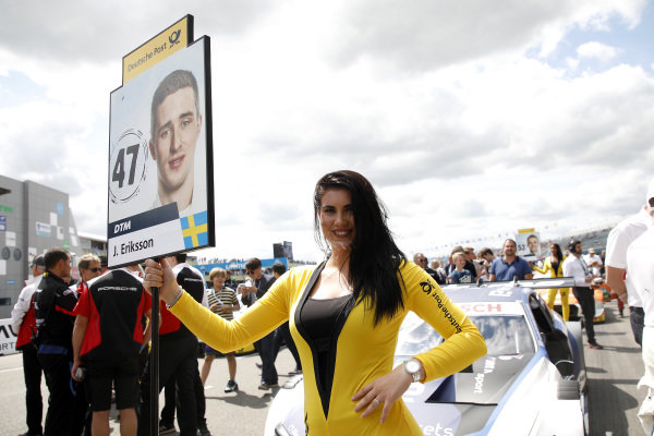 Grid girl of Joel Eriksson, BMW Team RBM.