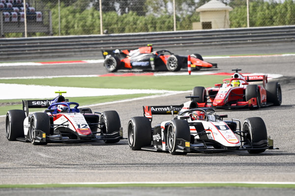 Marcus Armstrong (NZL, ART GRAND PRIX) and Pedro Piquet (BRA, CHAROUZ RACING SYSTEM)