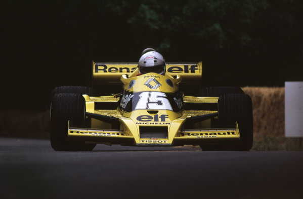 2000 Festival of Speed.Goodwood, England, Great Britain. 23-25 June 2000. Rene Arnoux (Renault RS01 turbo).World - LAT Photographic