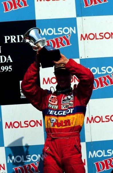 1995 Canadian Grand Prix.Montreal, Quebec, Canada.9-11 June 1995.Eddie Irvine (Jordan Peugeot) 3rd position.World Copyright - LAT Photographic