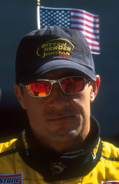 2001 United States Grand Prix. Indianapolis, Indiana, USA. 28-30 September 2001. Jean Alesi (Jordan Honda) 6th position. He competed in his 200th Grand Prix. Ref-01 USA 04. World Copyright - LAT Photographic