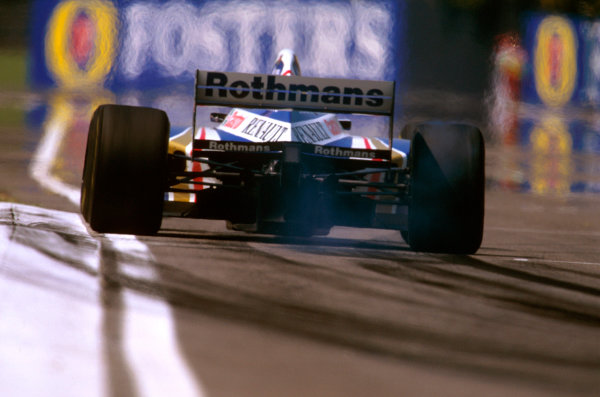 Imola, San Marino.25-27 APRIL 1997.Heinz-Harald Frentzen (Williams FW19 Renault) took his maiden F1 win.Ref-97 SM 06.World  Copyright - LAT Photographic