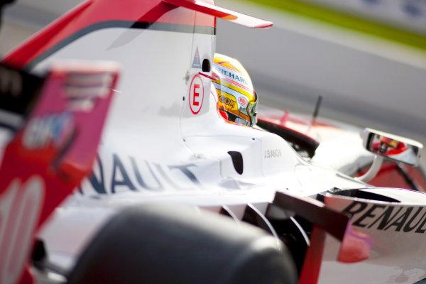 Thuesday 12th November 2009. Jules Bianchi (FRA, ART Grand Prix). World Copyright: Alastair Staley/GP2 Series Media Service.Ref: _O9T1689 jpg