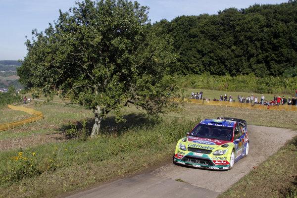 Round 09Rallye Deutschland 19-22/8 201Mikko Hirvonen, Ford WRC, ActionWorldwide Copyright: McKlein/LAT