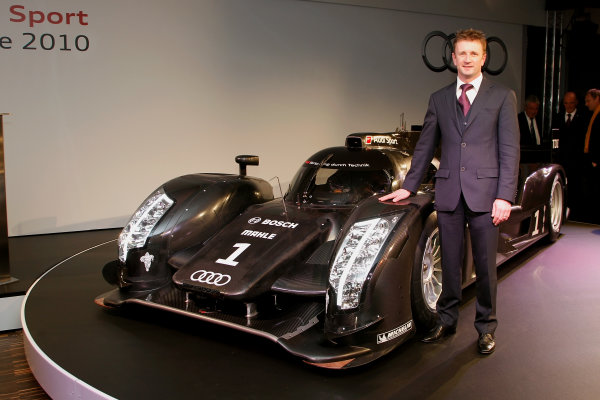 Ingolstadt, Germany.10th December 2010Audi launch their new sportscar for Le Mans.Copyright Free and Mandatory Credit: Audi Communications Motorsportref: r1899