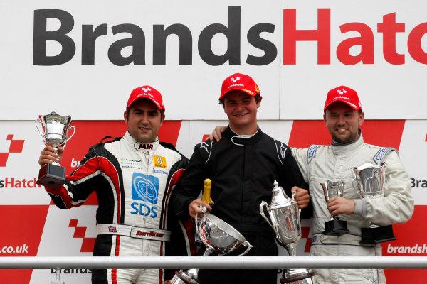 2013 Champion of Brands, Brands Hatch, Kent. 10th August 2013. Podium (l-r) Scott Malvern, Oliver White, Josh Fisher. World Copyright: Ebrey / LAT Photographic.