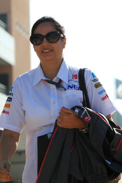 Korea International Circuit, Yeongam-Gun, South Korea. Saturday 5th October 2013. Monisha Kaltenborn, CEO and Team Principal, Sauber F1. World Copyright: Charles Coates/LAT Photographic. ref: Digital Image _X5J9377