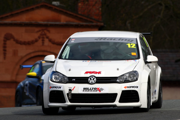 2015 Volkswagen Racing Cup, Oulton Park, Cheshire. 4th - 6th April 2015. Michael Epps (GBR) Team HARD Golf GTI. World Copyright: Ebrey / LAT Photographic.