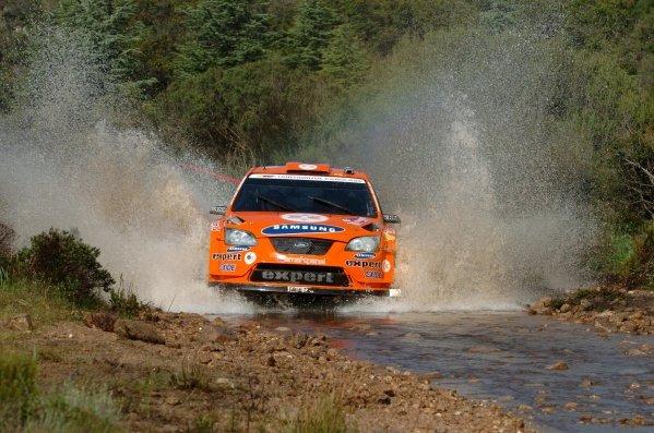 FIA World Rally Championship, Rd 6.May 15-18, 2008Rally d'Italia Sardegna, Olbia, Sardinia, ItalyDay Three, Sunday May 18, 2008.Henning Solberg (NOR) on Stage 14.DIGITAL IMAGEFIA World Rally Championship, Rd6, Rally d'Italia Sardegna, Sardinia, Italy, Day Three, Sunday 18 May 2008.