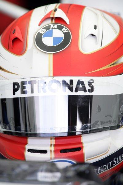 2007 Italian Grand Prix - Friday PracticeAutodromo di Monza, Monza, Italy.7th September 2007.Robert Kubica, BMW Sauber F1 07. Portrait. Helmets. World Copyright: Charles Coates/LAT Photographicref: Digital Image ZK5Y1308