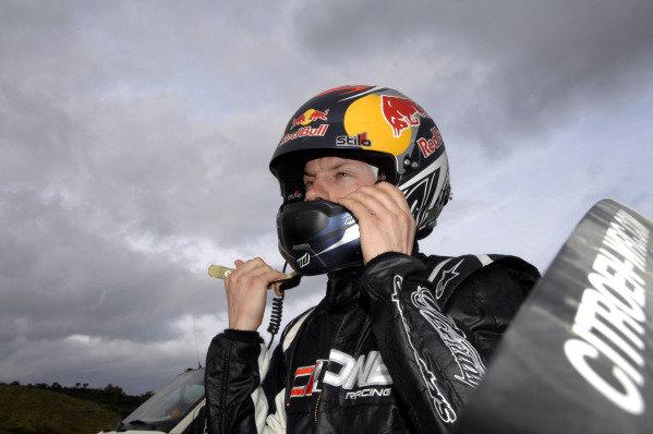 Kimi Raikkonen (FIN) prepares for stage 13. FIA World Rally Championship, Rd3, Vodafone Rally de Portugal, Faro, Portugal. Day Two, Saturday 26 March 2011.