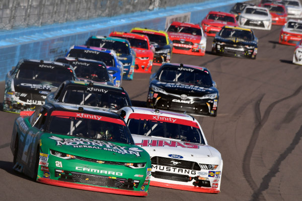 NASCAR XFINITY Series Ticket Galaxy 200 Phoenix Raceway, Avondale, AZ USA Saturday 11 November 2017 Daniel Hemric, Smokey Mountain Snuff Chevrolet Camaro and Cole Custer, Haas Automation Ford Mustang World Copyright: Nigel Kinrade LAT Images