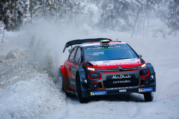 2018 FIA World Rally Championship, Round 02, Rally Sweden 2018, February 15-18, 2018. Craig Breen, Citroen, action, Worldwide Copyright: McKlein/LAT