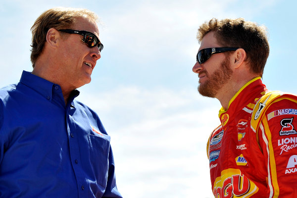 3-4 April, 2014, Fort Worth, Texas USA Rusty Wallace and Dale Earnhardt Jr © 2014, Jennifer Coleman LAT Photo USA