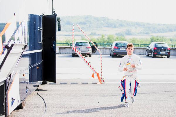 2017 GP3 Series Test 4.  Hungaroring, Budapest, Hungary. Tuesday 6 June 2017. Dorian Boccolacci (FRA, Trident) Photo: Zak Mauger/GP3 Series Media Service. ref: Digital Image _54I2140