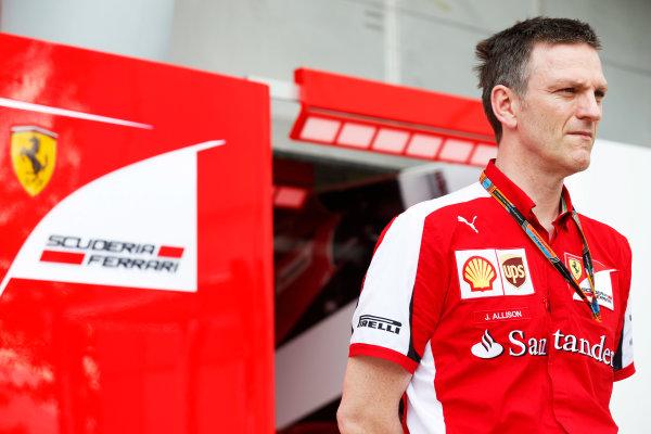 Sepang International Circuit, Sepang, Kuala Lumpur, Malaysia. Friday 27 March 2015. James Allison, Technical Director, Ferrari. World Copyright: Alastair Staley/LAT Photographic. ref: Digital Image _R6T4313