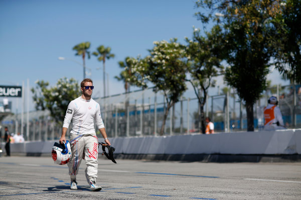 2014/2015 FIA Formula E Championship. Sam Bird (GBR)/Virgin Racing - Spark-Renault SRT_01E  Long Beach ePrix, Long Beach, California, United States of America. Saturday 4 April 2015  Photo: Adam Warner/LAT/FE ref: Digital Image _L5R7042