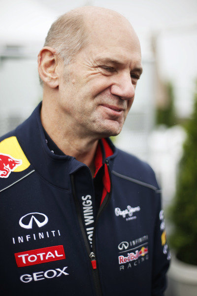 8th June 2013 Adrian Newey, Chief Technical Officer, Red Bull Racing World Copyright: Charles Coates/  ref: Digital Image _N7T6004
