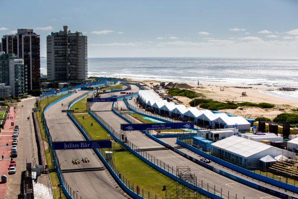 2015/2016 FIA Formula E Championship. Testing, Punta del Este, Uruguay. Sunday 20 December 2015. Lucas Di Grassi (BRA), ABT Audi Sport FE01 and Daniel Abt (GER), ABT Audi Sport FE01. Photo: Zak Mauger/LAT/Formula E ref: Digital Image _L0U9333