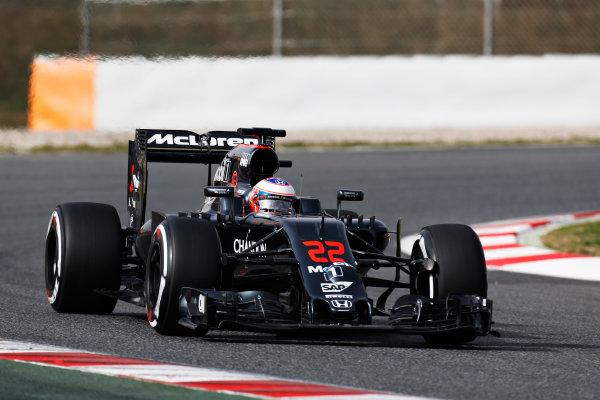 Circuit de Catalunya, Barcelona, Spain Monday 22 February 2016. Jenson Button, McLaren MP4-31 Honda. World Copyright: Alastair Staley/LAT Photographic ref: Digital Image _R6T7049