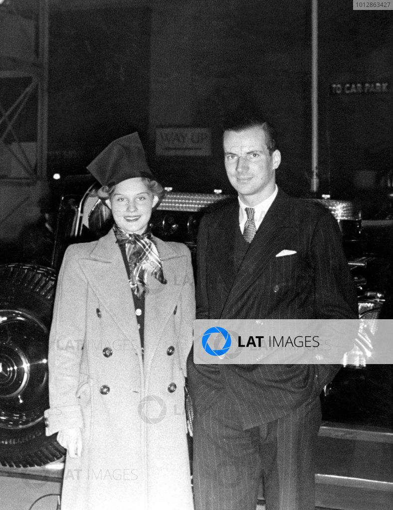 Dick Seaman and Erica Poppe, Portrait. World Copyright: LAT Photographic Published Autocar 21/10/38.