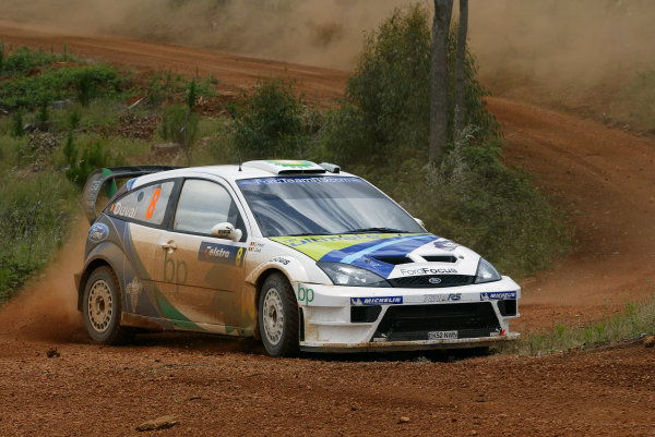 2004 FIA World Rally Champs. Round Sixteen, Rally Australia.11th - 14th November 2004.Francois Duval, Ford, action.World Copyright: McKlein/LAT