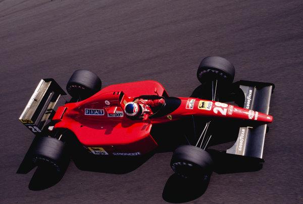 1991 Italian Grand Prix.Monza, Italy.6-8 September 1991.Jean Alesi (Ferrari 643).Ref-91 ITA 31.World Copyright - LAT Photographic