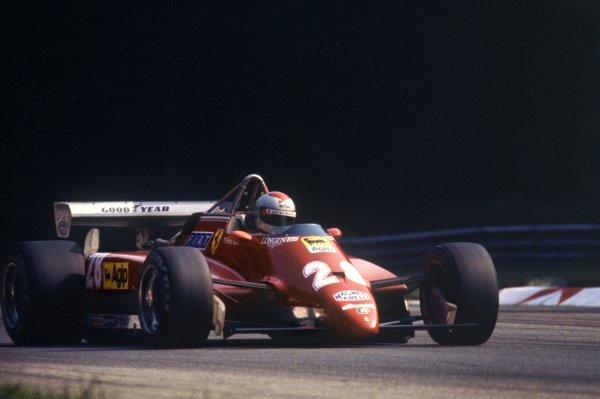 1982 Italian Grand Prix.Monza, Italy. 12 September 1982.Mario Andretti, Ferrari 126C2, 3rd position, action.World Copyright: LAT PhotographicRef: 35mm transparency 82ITA22