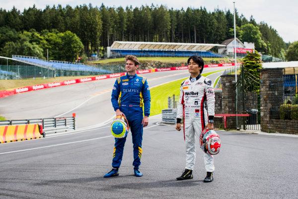 2017 FIA Formula 2 Round 8. Spa-Francorchamps, Spa, Belgium. Thursday 24 August 2017. Oliver Rowland (GBR, DAMS) and Nobuharu Matsushita (JPN, ART Grand Prix).  Photo: Zak Mauger/FIA Formula 2. ref: Digital Image _56I0251