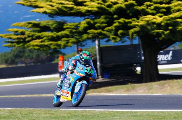 2017 Moto3 Championship - Round 16 Phillip Island, Australia. Friday 20 October 2017 Enea Bastianini, Estrella Galicia 0,0 World Copyright: Gold and Goose / LAT Images ref: Digital Image 23293