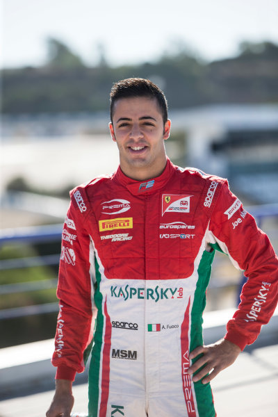 2017 FIA Formula 2 Round 10. Circuito de Jerez, Jerez, Spain. Thursday 5 October 2017. Antonio Fuoco (ITA, PREMA Racing).  Photo: Andrew Ferraro/FIA Formula 2. ref: Digital Image _FER8177