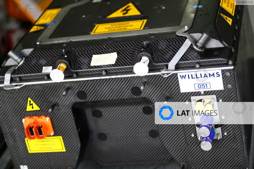 2017/2018 FIA Formula E Championship. Official Test - Valencia, Spain Wednesday 4 October 2017. Williams battery. Photo: Sam Bloxham/LAT/Formula E ref: Digital Image _J6I9720