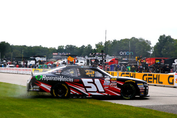 NASCAR XFINITY Series Johnsonville 180 Road America, Elkhart Lake, WI USA Sunday 27 August 2017 Jeremy Clements, RepairableVehicles.com Chevrolet Camaro celebrates his win World Copyright: Russell LaBounty LAT Images