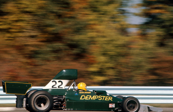 Watkins Glen, New York State, United States. 6 October 1974.Mike Wilds.  Ensign-Ford N174, retired, action. World Copyright: LAT Photographic.Ref:  74USA30.