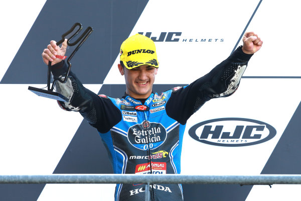 2017 Moto3 Championship - Round 5 Le Mans, France Sunday 21 May 2017 Podium: second place Aron Canet, Estrella Galicia 0,0 World Copyright: Gold & Goose Photography/LAT Images ref: Digital Image 671648