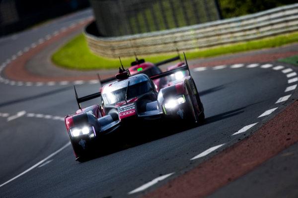 2016 Le Mans 24 Hours. Circuit de la Sarthe, Le Mans, France. Sunday 19 June 2016. Audi Sport Team Joest / Audi R18 - Marcel Fassler (CHE), Andre Lotterer (DEU), Benoit Treluyer (FRA).  World Copyright: Zak Mauger/LAT Photographic ref: Digital Image _79P8689